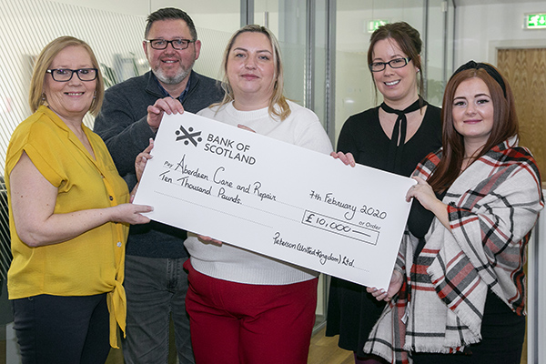 Peterson donates £20,000 to local Aberdeen charities